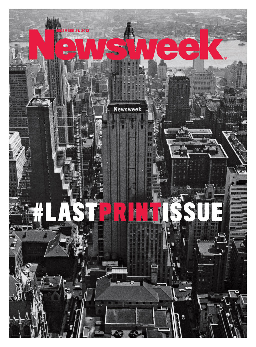 The cover of Newsweek last print issue.