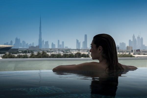 InterContinental Dubai Festival City view from pool